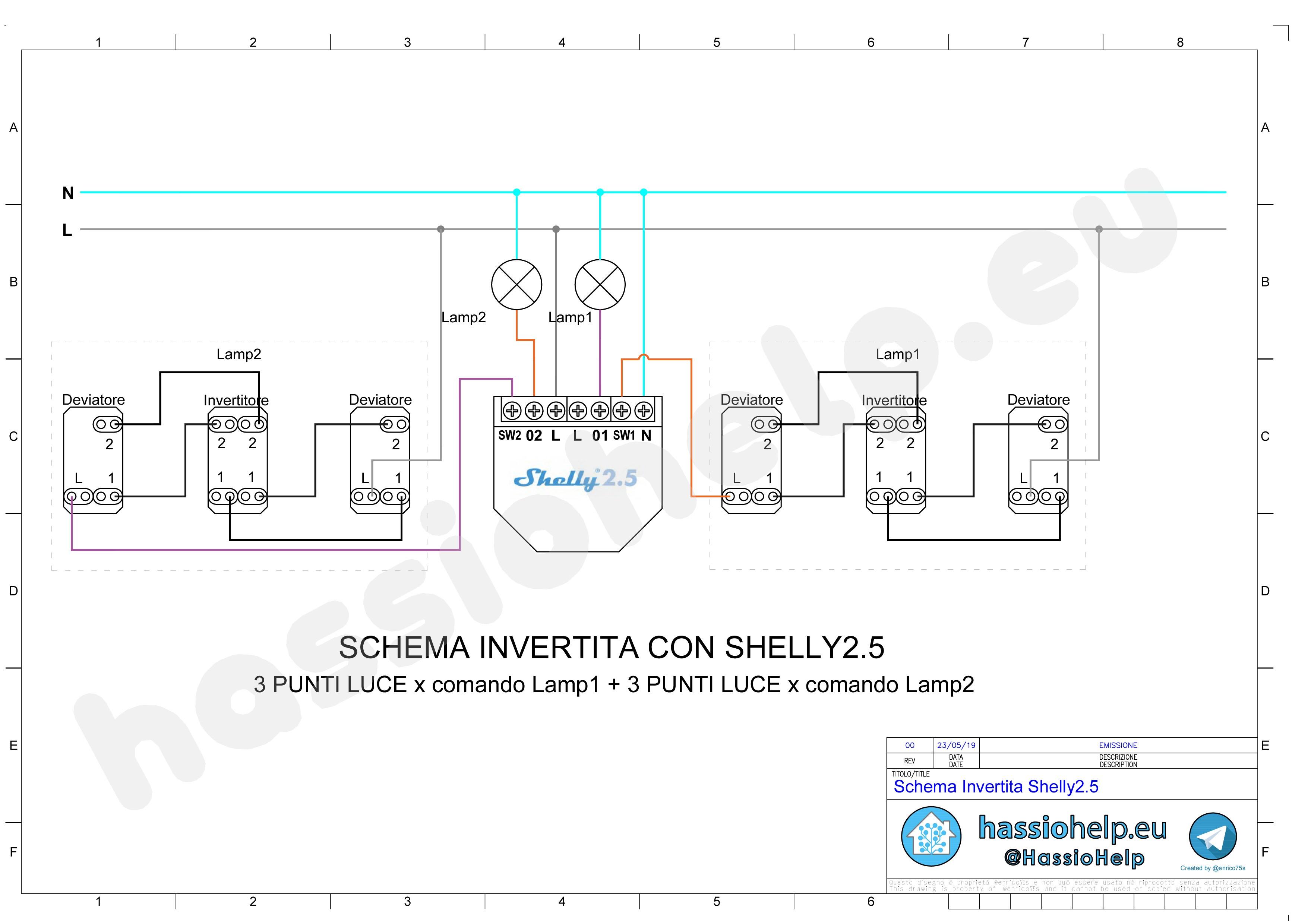 Shelly 1 WiFi interruttore con contatto pulito | Schema ed ...